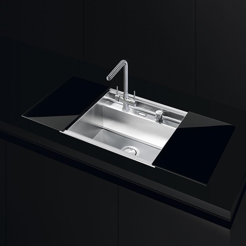 evier encastrable 60 cm smeg vqmx60. Black Bedroom Furniture Sets. Home Design Ideas