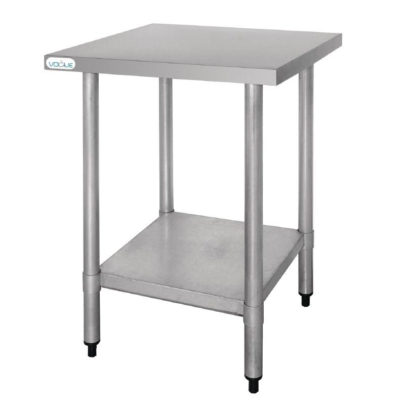 Tables en acier inoxydable profondeur 60cm tivio - Table en acier inoxydable ...