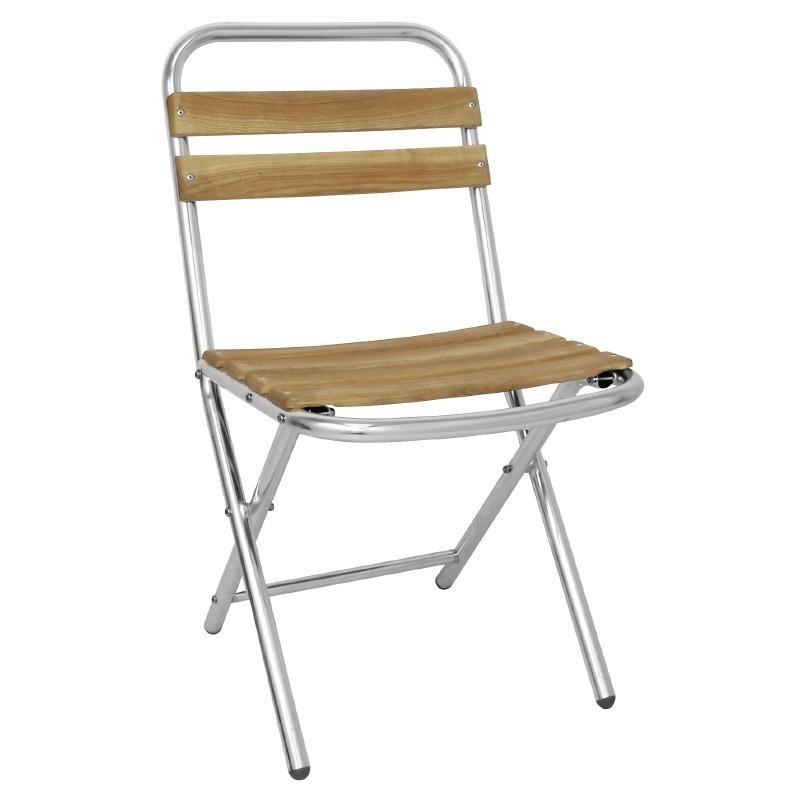 Chaise Pliante En Aluminium Et Bois