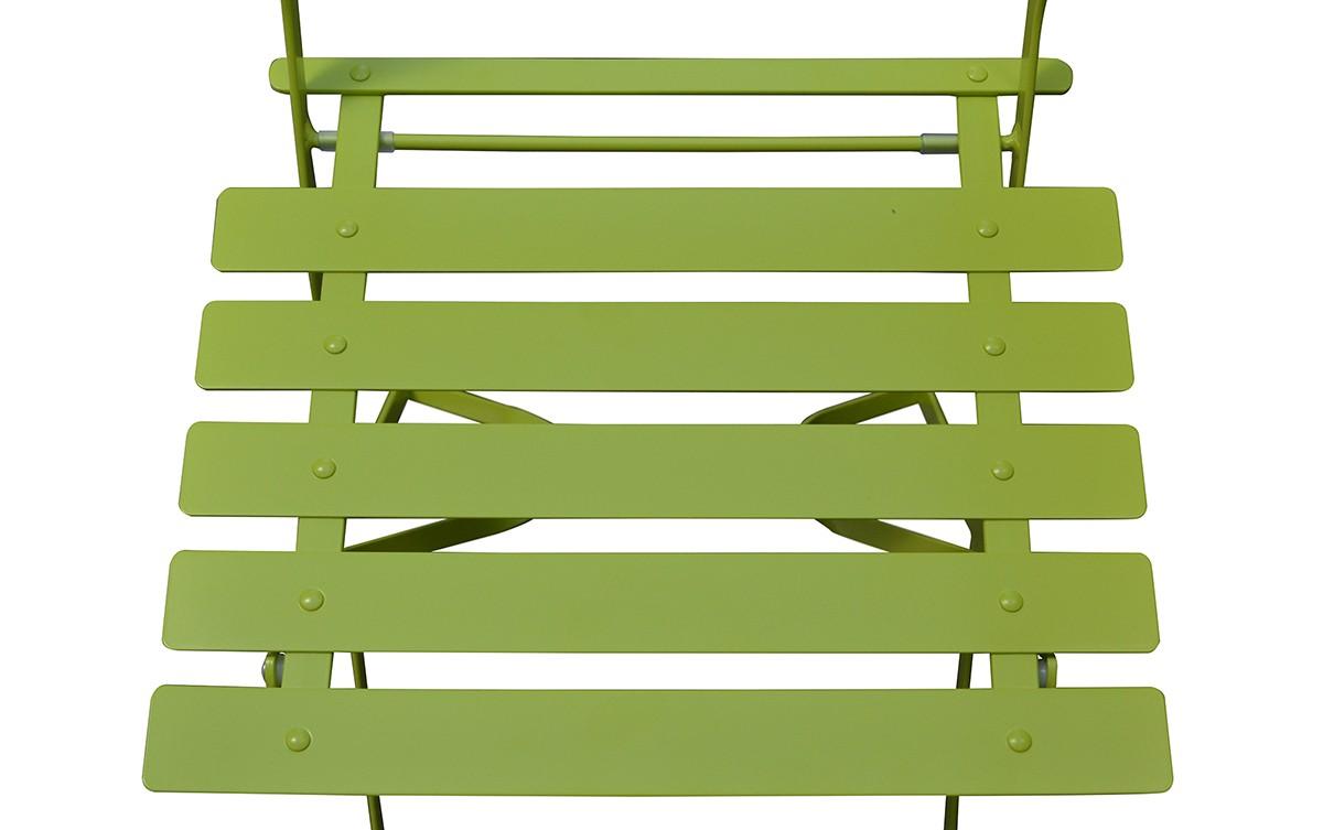2 chaises de jardin en acier pliantes. Black Bedroom Furniture Sets. Home Design Ideas